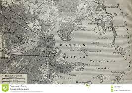 Map Boston Old Map Of Boston Harbor Royalty Free Stock Photo Image 18241925