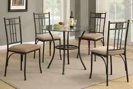 Inspiring Round Glass Kitchen Table Halo Ebony Round Dining Tables - Round glass kitchen table sets