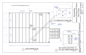 typical floor framing plan unique free x deck blueprint with pdf