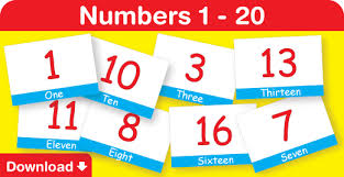 free printable number flashcards 1 20 numbers 1 20 fun kids english fun kids songs fun phonics