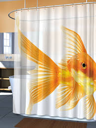 Shower Curtain Amazon Com Goldzilla Giant Goldfish Peva Vinyl Shower Curtain