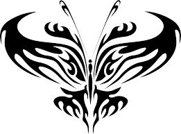 clipart butterfly line art 16