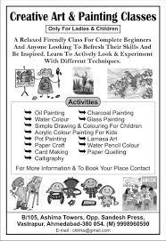 creative art u0026 craft workshop at b 105 ashima towers opp
