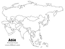 physical map of asia blank fill in the blank map of asia major tourist attractions