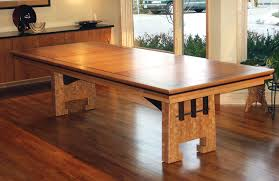 dining room cozy trestle dining table on concrete flooring and