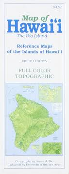 map of hawaii big island map of hawaii the big island a bier 9780824834395 amazon