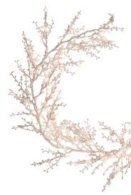 general electric pre lit garland winterberry branch 9 ft l x 10 in w