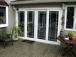 stanley double sliding patio door with built in blinds upvc french