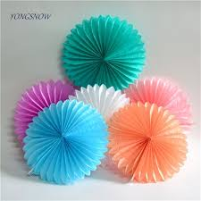 tissue paper fans 15cm paper crafts honeycomb tissue paper fans diy event wedding