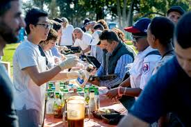 thanksgiving for homeless in pasadena s central park about more