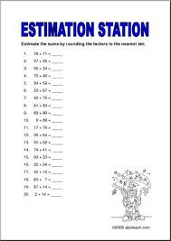 estimation station sums to 10 upper elem worksheet abcteach