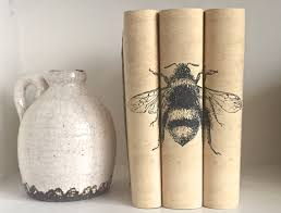 bumble bee home decor bee decorative books with custom book covers decorative