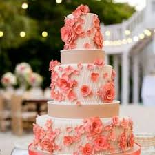 coral wedding cakes wedding tip thursday things to ask your florist wedding cake