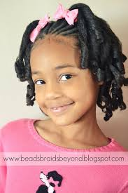 flexi rod stretch long 4b c hair beads braids and beyond little girls natural hairstyle flexi