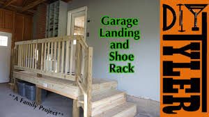 Stairs With Landing by Garage Landing And Shoe Rack Youtube