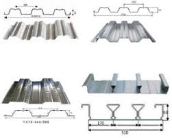 china steel galvanized corrugated metal joists floor decking sheet
