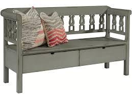 magnolia home dining room bench hall w storage dove grey 8030102b