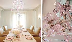 Dining Room Crystal Chandeliers Gwyneth Paltrow U0027s Dining Room Complete With Pink Swarovski