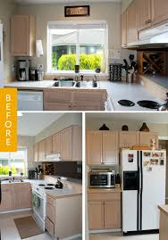 update kitchen ideas before after a basic kitchen gets a farmhouse style update kitchn
