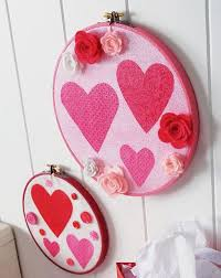 Valentine Wall Decorations Ideas by Diy Decorating Concept Valentine U0027s Day Embroidery Wall Hanging