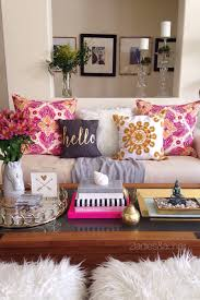 Anthropologie Inspired Living Room by Apr 21 Decorating With Bright Colors Fluffy Pillows Bright