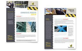 Construction Sheets Template Construction Sales Sheets Templates Designs