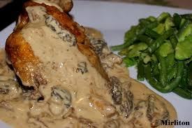 cuisiner les morilles fraiches coquelets aux morilles et sa sauce suprême au gewurztraminer