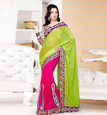 latest saree collection designer gold blouse cool color