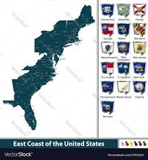 Florida Map East Coast East Coast Of The United States Royalty Free Vector Image