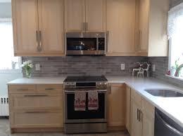 ikea handles cabinets kitchen orsa birch cabinets with ekeboda handles my ikea kitchen designs