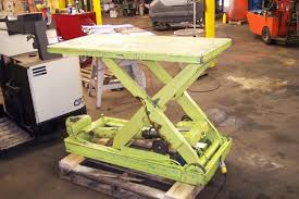 used electric lift table used mobile scissor lift table liftrite scissor lift table standard