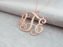 Personalized Initial Jewelry Personalized Monogram Necklace Monogrammed Pendant U2013 Nanvo Com