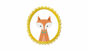 red fox frame machine embroidery design daily embroidery