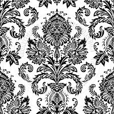 Black And White Designs Vector Seamless Damask Pattern By Createfirst Toon Vectors Eps