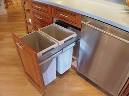 kitchen trash can size home and interior stainless steel pull out