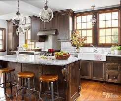 stained kitchen cabinets with hardwood floors stain wood cabinets better homes gardens