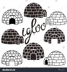pattern block house template ice house igloo set vector simple stock vector 775436056 shutterstock