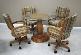 Alfa Dinettes Caster Dinette Sets - Caster dining room chairs