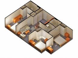 simple 4 bedroom house plans stylish 2 bedroom house plans 3d simple house plan with 2 bedrooms