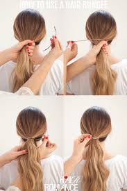 hairstyles with one elastic perfect ponytails how to use a hair bungee and hide your hair
