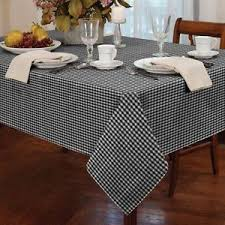 tablecloth for 54x54 table gingham check black white square 54x54 137x137cm table cloth