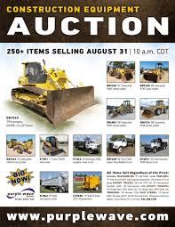 sold august 31 construction equipment auction purplewave inc