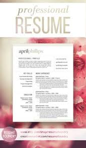 stylish best selling resume template includes 1 2 or 3 page