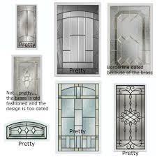 front door glass glass insert doors interior