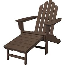 plastic adirondack chairs with ottoman hanover mahogany all weather plastic outdoor adirondack chair with
