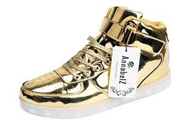 light up shoes gold high top light up shoes gold