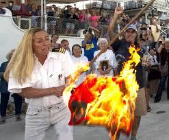 Flag Burning Legal Keys Residents Burn Hurricane Flags To Mark End Of Season