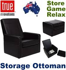 true innovations entertainment ottoman gaming chair puresoft faux
