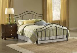 bedroom wrought iron bed king mattress frame queen size metal