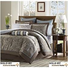 Blue And Brown Bed Sets Luxury Blue Brown Paisley Bedding Comforter Set Of 12